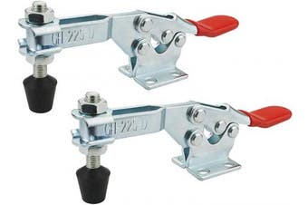 BNYZWOT 230kg Holding Capacity Toggle Clamps Horizontal Quick-Release Handle Toggle Clamp 225D 2Pcs