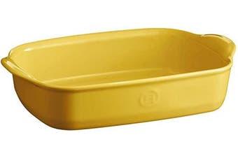 (Provence Yellow) - Emile Henry Small Oven, Provence Yellow rectangular baking dish