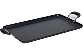 IMUSA USA, Black IMU-1818 Soft Touch Double Burner/Griddle, 50cm X 30cm
