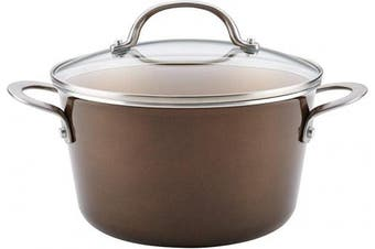 (4.3l, Brown Sugar) - Ayesha Curry 10760 Home Collection Nonstick Sauce Pan/Saucepan with Lid, 4.3l, Brown