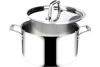 (6.2l) - Duxtop Whole-Clad Tri-Ply Stainless Steel Stockpot with Lid, 6.2l, Kitchen Induction Cookware