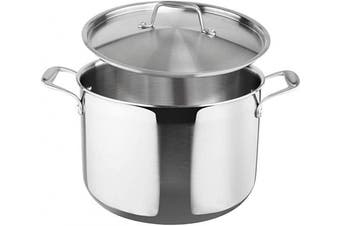 (7.6l) - Duxtop Whole-Clad Tri-Ply Stainless Steel Stockpot with Lid, 7.6l, Kitchen Induction Cookware