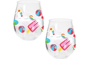 (Float) - X & O Paper Goods QWG2-20876 Double Stemless Wine, Float