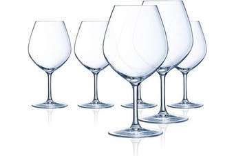 (Burgundy, Set of 6) - Chef & Sommelier L9231 Domaine 610ml Burgundy Wine Glass, Set of 6, Clear