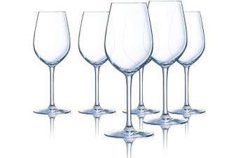 (Tulip 580ml, Set of 6) - Chef & Sommelier Domaine 580ml All Purpose Tulip Wine Glass, Set of 6, Clear