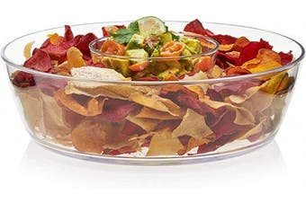 (Chip and Dip Set (2-Piece)) - Libbey Indoors Out 2-Piece Break-Resistant Chip and Dip Bowl Set