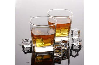 (Rocks glass) - Old Fashioned Drinking Glasses - 300ml Heavy Base Rocks Barware Glasses for Scotch, Bourbon and Cocktail Drinks