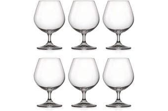 Brandy - Snifter - Clear - Glass - Set of 6 Glasses- Lead Free - by Barski - Made in Europe - 470ml