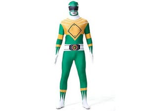 (Men: Small, Green) - N/A Power Rangers Mighty Morphin Costume - Zentai For Men, Women, Children, Unisex - Fancy Dress Outfit Christmas Halloween
