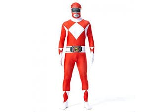 (Men: Small, Red) - N/A Power Rangers Mighty Morphin Costume - Zentai For Men, Women, Children, Unisex - Fancy Dress Outfit Christmas Halloween