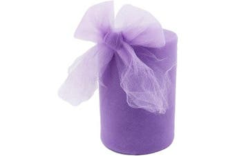 (Lavender) - Tulle Fabric Rolls 15cm by 100 Yards (90m) Tulle Spool for Wedding Party Decorations Gift Bow Craft Tutu Skirt (Lavender)