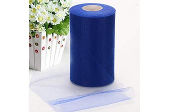 Adeeing Tulle Rolls 15cm x 200 Yards (180m) Tulle for Wedding Tulle Fabric Bolt Spool for Tutu Skirt Crafting Favours Pew Bow Party Decorations (Royal Blue)
