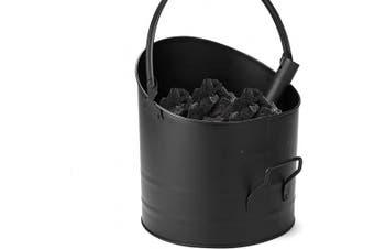 (Large) - Mind Reader ASHBUCK-BLK Large Fire Place Ash Bucket, Pellet Bucket, Black
