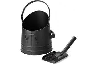 (Small) - Mind Reader MASH-BLK Large Fire Place Ash Bucket, Pellet Bucket with Shovel, Black