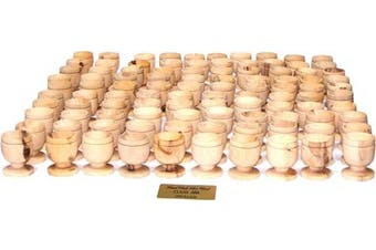 (100) - Holy Land Market Olive Wood Small Chalice or Goblet/Wine or Communion Church Cup (100)