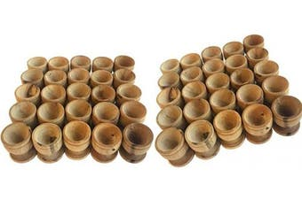 (50) - Holy Land Market Olive Wood Small Chalice or Goblet/Wine or Communion Church Cup (50)