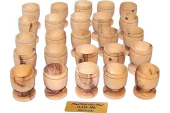 (25) - Holy Land Market Olive Wood Small Chalice or Goblet/Wine or Communion Church Cup (25)