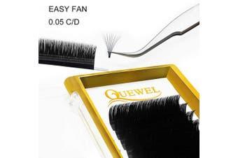 (14 mm, 0.05-C Curl) - Volume Lash Extensions Easy Fan 0.05mm C Curl 14mm 2D 3D 4D 5D 6D 10D Volume Fans Cluster Individual Lashes