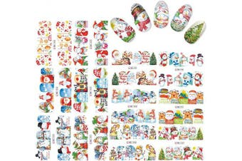 (Christmas1137) - Alexnailart Nail Stickers Set Christmas Water Transfer Decals Nail Art Accessories Manicure Decorations Tool (Christmas1137)