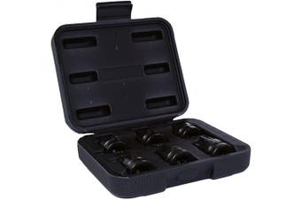 Impact 1.3cm Drive Shallow Stubby Torx Star Male Bit Sockets T55 - T100 6pc Set