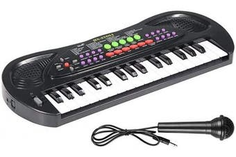 (Black) - AIMEDYOU Kids Piano Keyboard 32 Keys Portable Electronic Musical Instrument Multi-Function Keyboard Teaching Toys Birthday Christmas Day Gifts for Kids