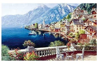 (Seaside Town-1) - Jigsaw Puzzles for Kids & Adult - 1000 Pieces Seaside Town Puzzle - Family Funny Decompression Games