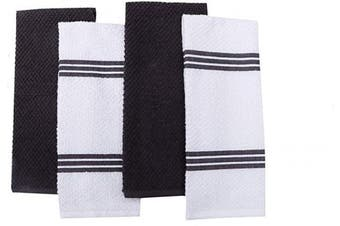 Amour Infini Terry Dish Towel | Set of 4 | 41cm x 70cm | Super Soft and Absorbent |100% Cotton Dishtowels | Perfect for Household and Commercial Uses | Grey