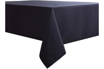 (130cm  x 180cm , Black) - Biscaynebay Fabric Tablecloths, Water Resistant Spill Proof Tablecloths for Dining, Kitchen, Wedding and Parties, Black 130cm by 180cm Rectangle
