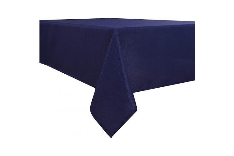 (180cm  x 180cm , Navy) - Biscaynebay Textured Fabric Tablecloths, Water Resistant Spill Proof Tablecloths for Dining, Kitchen, Wedding and Parties, Navy 180cm by 180cm Square