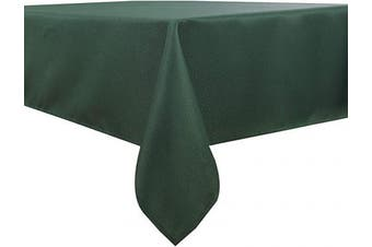 (130cm  x 180cm , Hunter Green) - Biscaynebay Textured Fabric Table Cloths, Water Resistant Spill Proof Tablecloths for Dining, Kitchen, Wedding and Parties, Hunter Green 130cm by 180cm Rectangle