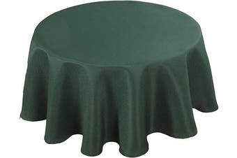 (150cm  R, Hunter Green) - Biscaynebay Textured Fabric Tablecloths, Water Resistant Spill Proof Tablecloths for Dining, Kitchen, Wedding and Parties, Hunter Green 150cm Round