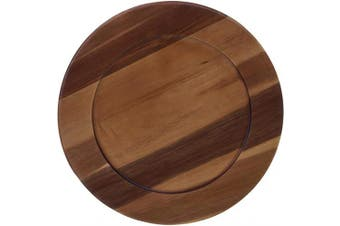 Certified International Acacia Wood Charger Plate, 33cm Servware, Serving Accessories, One Size, Multicoloured