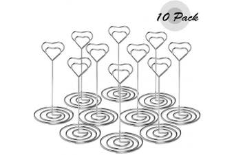 (A-silver) - Atopxing 10pcs 12cm Place Card Holders, Sturdy Table Number Holder, Classy Table Photo Picture Stands, Elegant Menu Note Clips, Idea for Wedding, Birthday, Bridal Shower, Graduation Party (Silver)