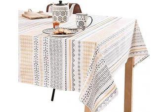 (150cm W X 230cm L, Sunshine) - Cotton Tablecloths for Rectangle Tables_Printed Table Cloths_Rectangular Table Cloth for 1.8m Table_Washable Tablecloth for Parties, Holiday Dinner, Buffets Tables etc. (150cm X 230cm , Sunshine)