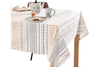 (140cm W X 140cm L, Sunshine) - Square Tablecloths Cotton_Printed Table Cloths_Table Cloth for Square Tables 54 x 54_Washable Tablecloth for Parties, Holiday Dinner, Kitchen, Picnic, Buffets Tables etc.(140cm X 140cm , Sunshine)