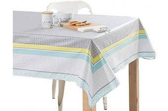 (140cm W X 180cm L, Morning Glory) - Cotton Tablecloths for Rectangle Tables_Printed Table Cloths_Table Cloth for 1.5m Rectangular Table_Washable Tablecloth for Parties, Holiday Dinner, Buffets Tables etc. (140cm X 180cm , Morning Glory)