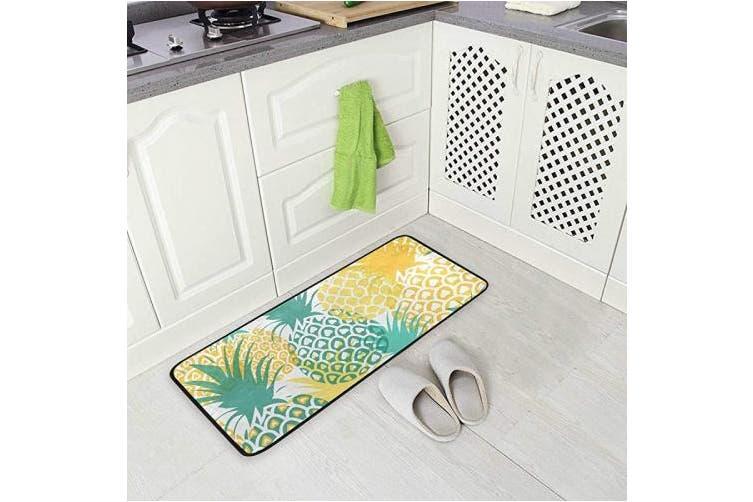 Pineapple Kitchen Rugs Pineapple Tropical Fruit Design Non Slip Soft Kitchen Mats Bath Rug Runner Doormats Carpet For Home Decor 100cm X 50cm Matt Blatt