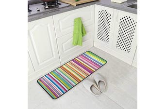 (Colorful Striped) - AGONA Anti Fatigue Kitchen Mat Abstract Colourful Striped Kitchen Floor Mat Soft Standing Mats Non Slip Kitchen Rugs Bath Rug Runner Carpet for Home Decor Indoor Outdoor
