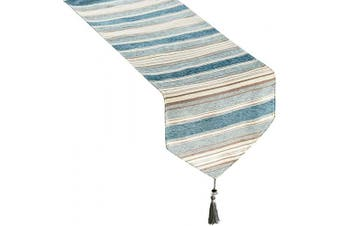 (33cm  X 120cm , Teal) - Top Finel Dining Table Runner 120cm , Washable Cotton Linen Coffee Table Runners with Tassels for Wedding Party Holiday Decorations, Teal