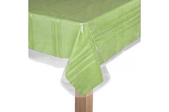 (140cm  x 140cm ) - BNYD Clear Plastic Tablecloth Protector, Table Cloth Vinyl (140cm x 140cm )