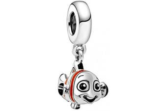 (Finding Nemo) - 2020 Cartoon Animal Charm Bead Collection - Authentic S925 Sterling Silver Charms for Bracelets and Gift Pouch
