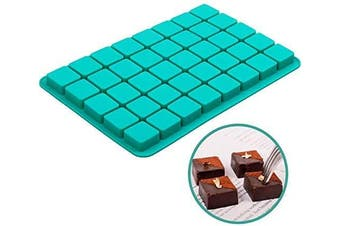 Square Silicone Candy Moulds, 40-Cavity Caramel Chocolate Mould for Brownie, Truffles Chocolate, Ganache, Jelly and Pralines, Ice Cube Tray Moulds (11.8 x 20cm x 1.5cm )