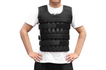 (a(5kg)) - AmandaJ Weighted Vest Adjustable Loading Weight Jacket for Running, Training Exercise Weight Vest Waistcoat - 5KG/15KG/35KG