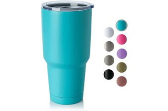 (1, Mint Green) - COMOOO 890ml Double Wall Vacuum Insulated Travel Mug - Stainless Steel Tumbler with Lid Coffee Cup for Cold & Hot Drinks (Mint Green, 1)