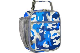 (Blue Camo) - Kids Lunch box Insulated Soft Bag Mini Cooler Back to School Thermal Meal Tote Kit for Girls, Boys by FlowFly,Camo
