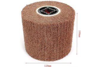 (240#) - 120x100mm Non-woven Abrasive Flap Wire Drawing Polishing Burnishing Wheel for The Surface Treatment of Metal Products 240 Grit