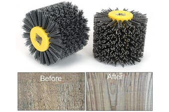 (Grit: 320) - 120x100mm Abrasive Wire Drawing Wheel Drum Burnishing Brush For The Surface Treatment Of Furniture Wooden Products Polishing 320 Grit