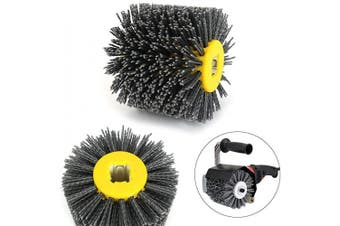 (Grit: 120) - 120x100mm Abrasive Wire Drawing Wheel Drum Burnishing Brush For The Surface Treatment Of Furniture Wooden Products Polishing 120 Grit