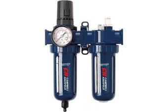 "Filter Regulator and Lubricator – 3 in 1 FRL Unit - 3/8"" NPT – 150 PSI (Campbell Hausfeld PA207803AV)"