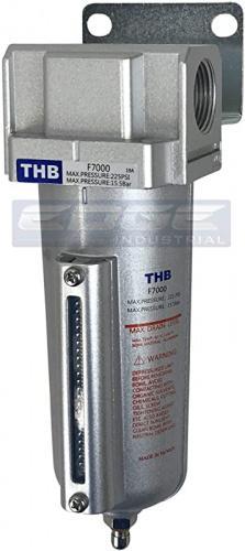 HEAVY DUTY HIGH FLOW 3//4 IN-LINE COMPRESSED AIR PRESSURE REGULATOR GAUGE 7 TO 215 PSI ADJUSTABLE BRACKET
